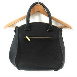 Charming Charlie Womens Black Faux Leather Purse